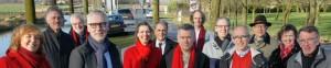Van links naar rechts: Gabrièle Penning de Vries, Frank van Rooijen, Bert de Bruijn, Elbert Elbers, Cécile de Boer, Recep Kaya, Hans Geurts, Peter Maassen, Frans Brukx, Peter van Griensven, Frans van Beers, Gerda de Boer en Tom van Doormaal